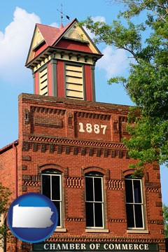 the Chamber of Commerce building in Madison, Georgia - with Pennsylvania icon